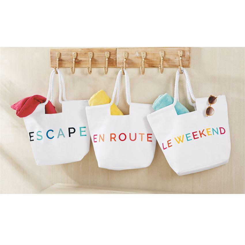 Canvas Beach Totes