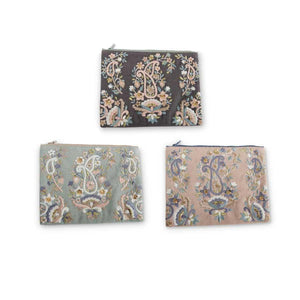 Pastel Paisley Cosmetic Bags