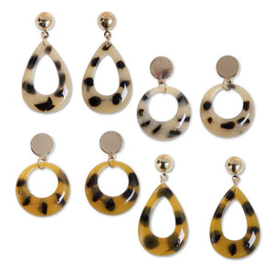 Leopard Post Earrings