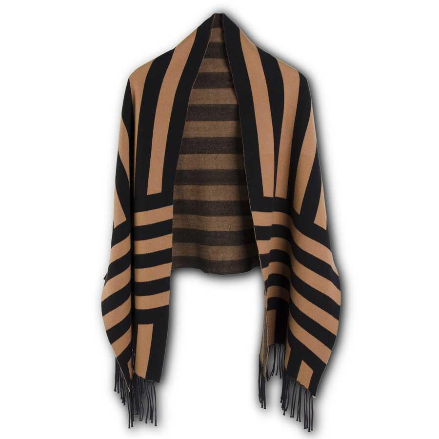 Black and Gold Stripe Wrap w/Sleeves