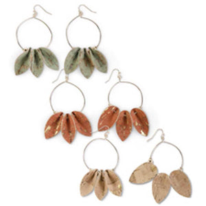 Assorted Cork Petal Earrings