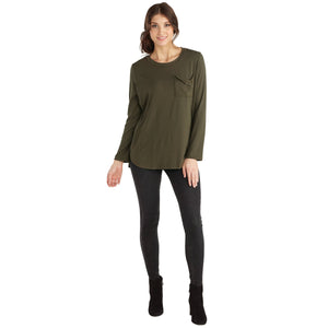 Olive Noah Jersey Top - Large