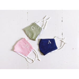Embroidered Initial Face Mask