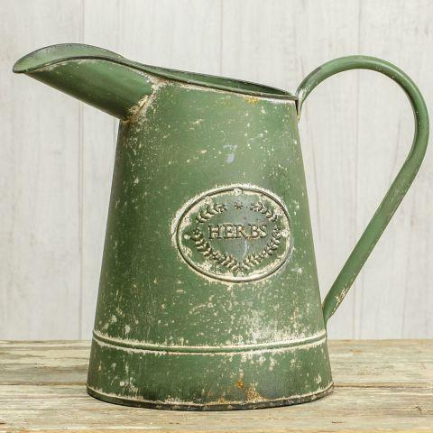 Green Herbs Watering Can