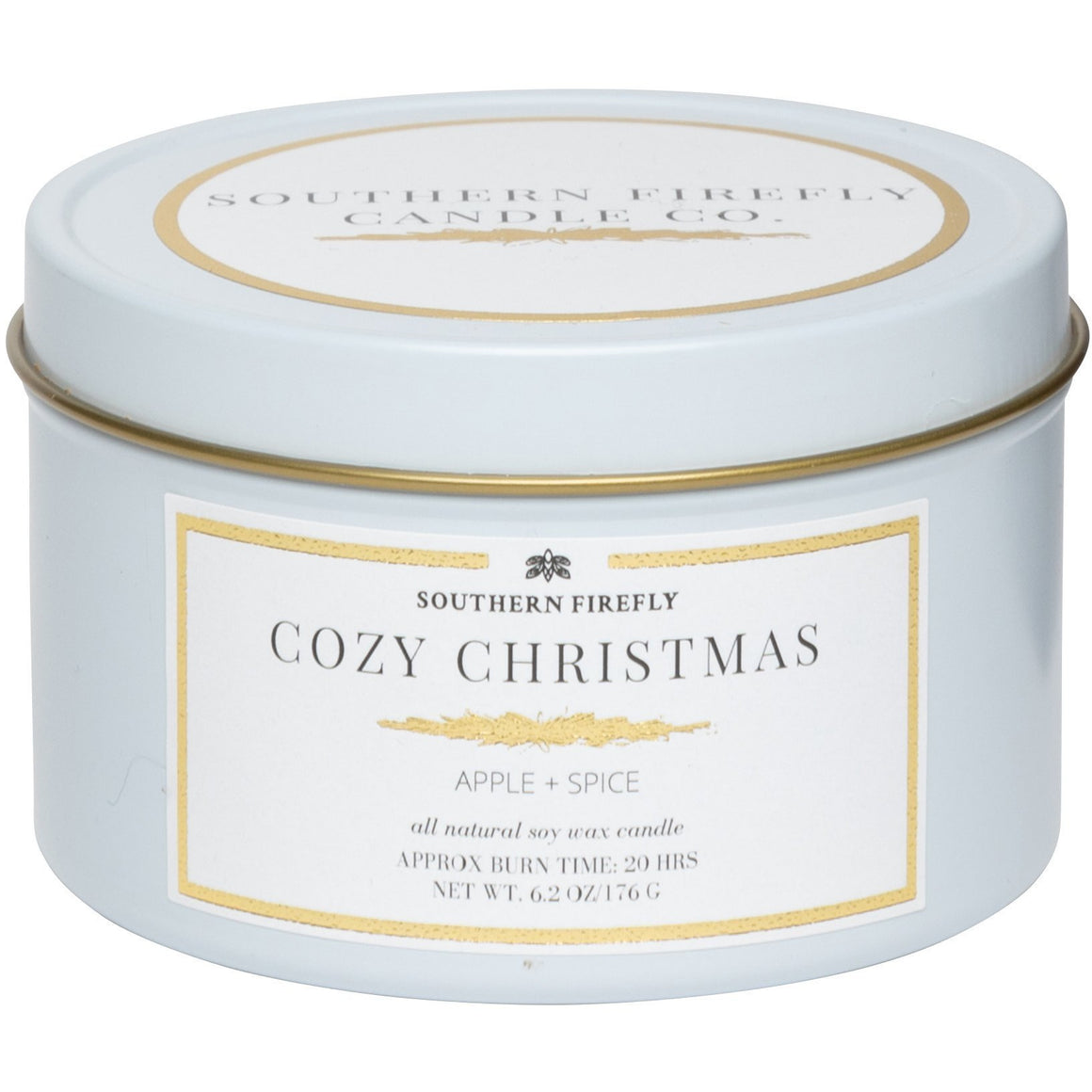 Firefly Candle Co. COZY CHRISTMAS -  6 oz TRAVEL TIN