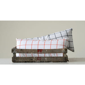 Window Pane Pattern Cotton Pillows