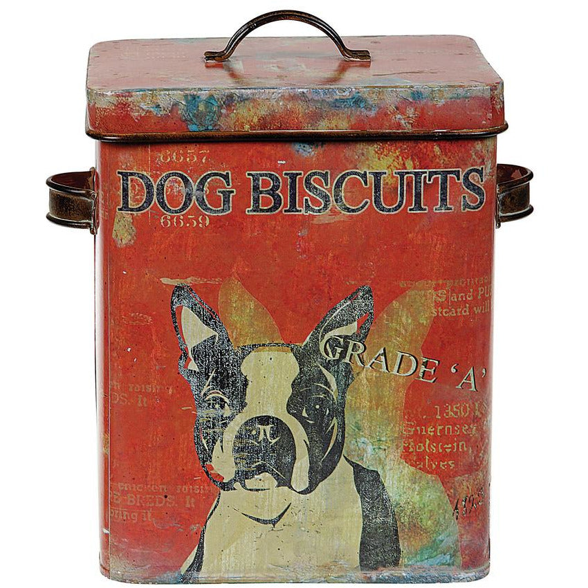 Metal Container Dog Biscuits
