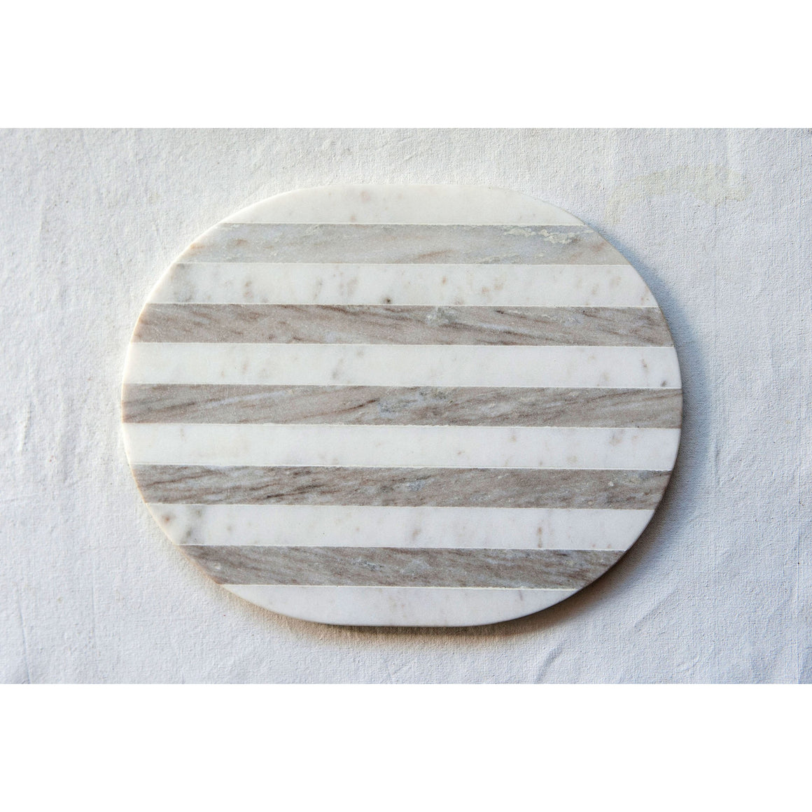 Grey & White Striped Marble Cheese / Cutting Board