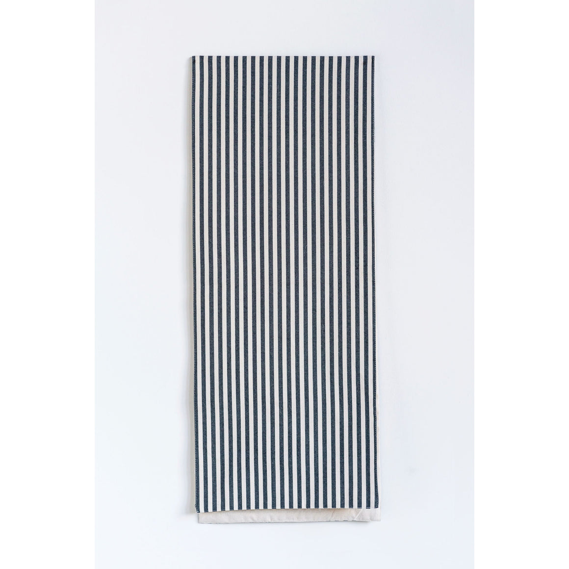 Cotton Black Striped Table Runner