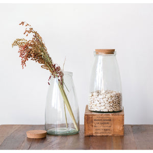 Glass Jar w/Cork Lid - Large