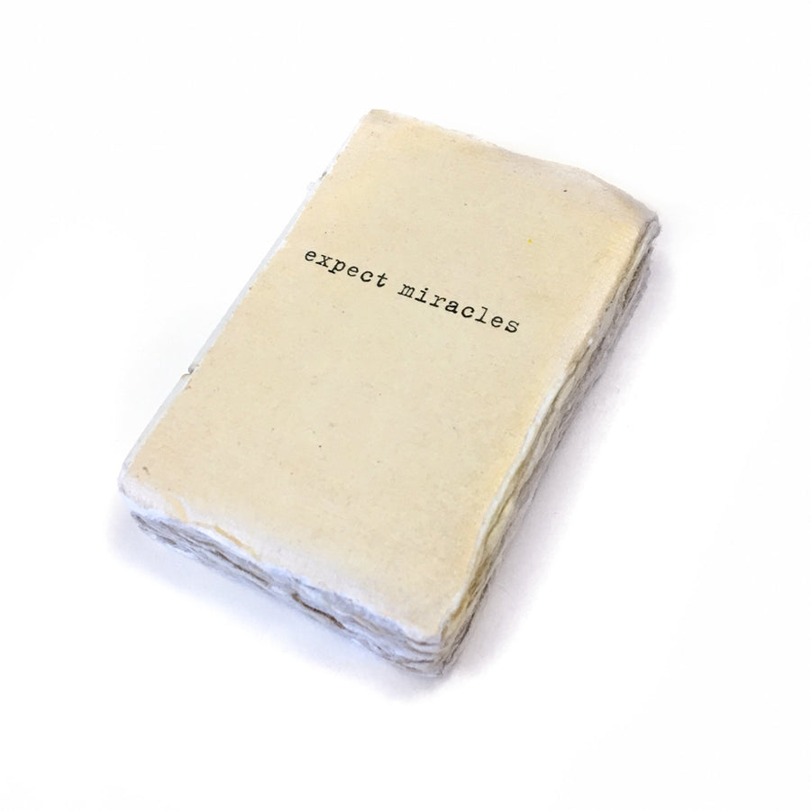 Deckle Edge Notebook - Expect Miracles - Mini
