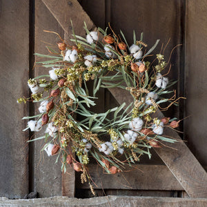 Cotton Patch Wreath 22""