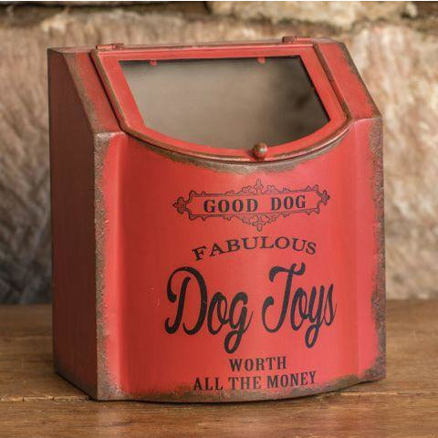 Red Vintage Style Dog Toys Box - Medium