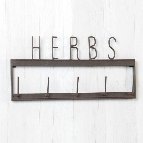 """Herbs"" Hanging Rack"