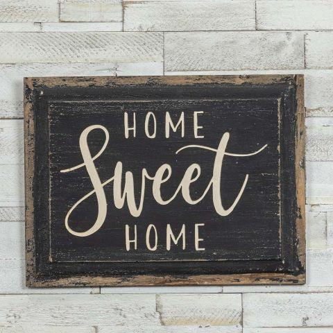 """Home Sweet Home"" Wood Plaque"