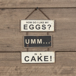 "Tiny ""Eggs"" Sign"