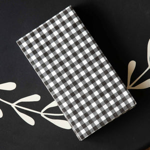 Black & White Gingham Check Dinner Napkins/Guest Towels