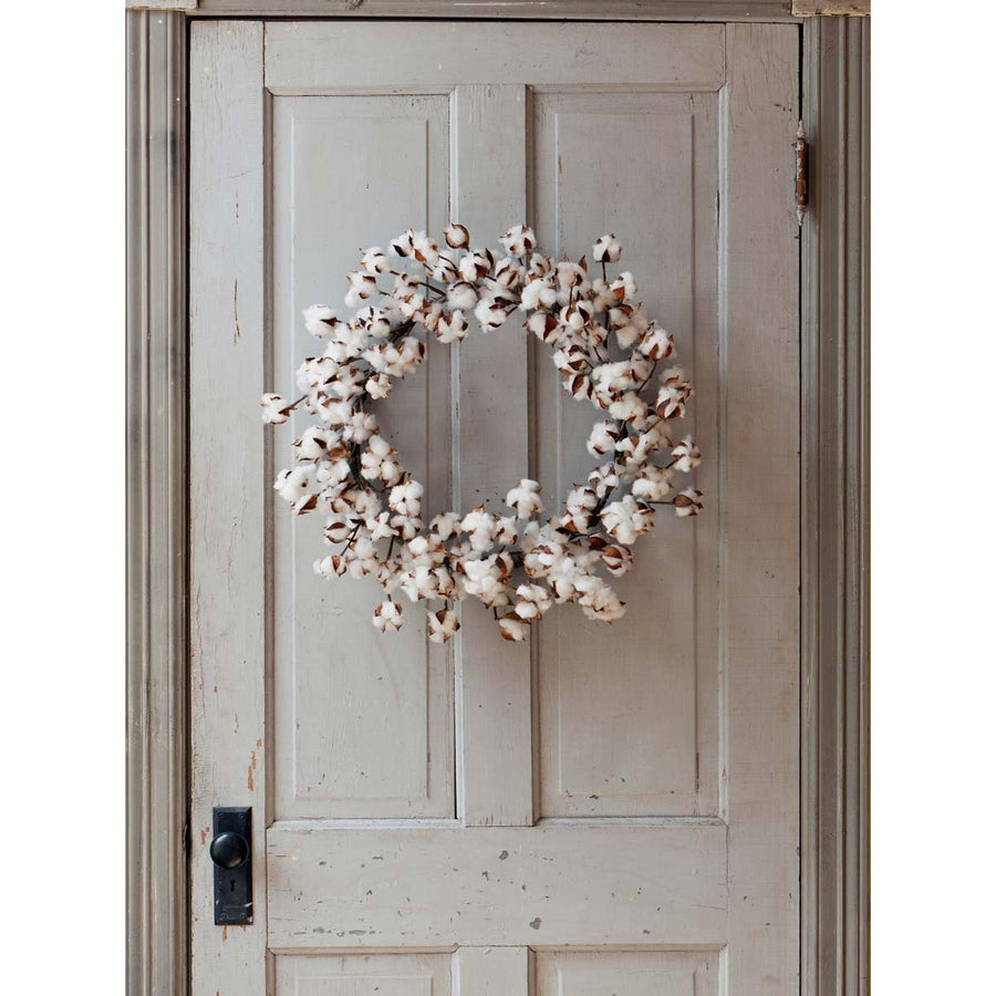 Cotton Wreath - Large