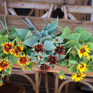 Crafted Wild Sunflower Stem Collection - 3 Assorted Colors