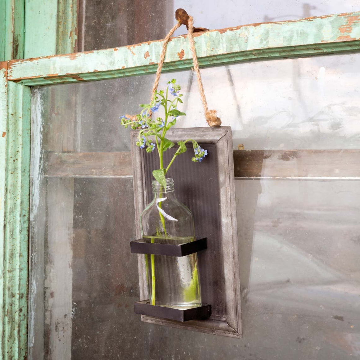 Hanging Bottle Vase with Sheet Blackboard