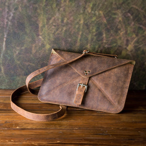 Leather Tablet Tote, Buffalo Finish