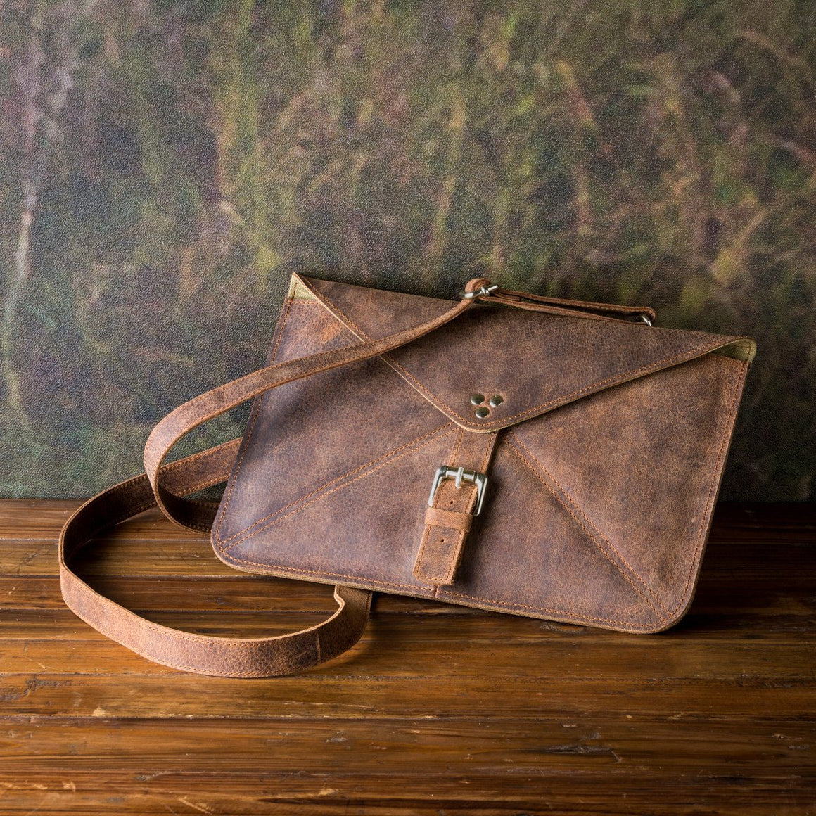 Leather Errand Bag, Buffalo Finish