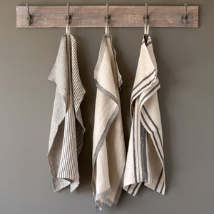 Soft Linen Dish Towel - Blacks