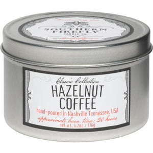 Southern Firefly Candle Co. HAZELNUT COFFEE - 8 oz TRAVEL TIN
