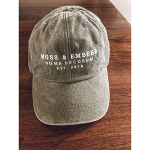 """Moss & Embers"" Garment Washed Cap"