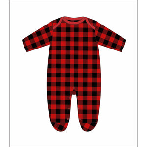 Buffalo Plaid Pajama Onesie - Newborn