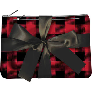 Cabin Cutie Zipper Pouch Set - Plaid