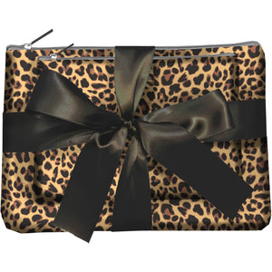 Born To Be WIld Zipper Pouch Set - Leopard