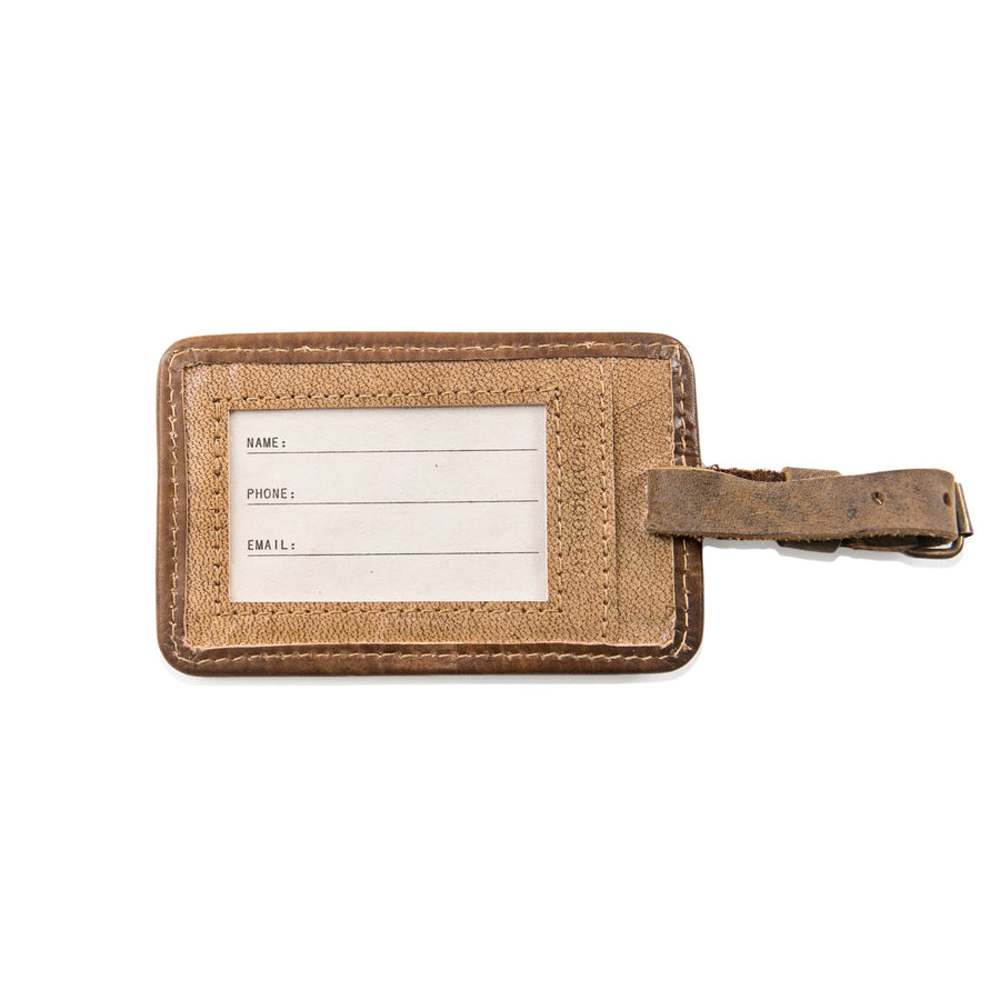 Leather Luggage Tag - Peter Pan