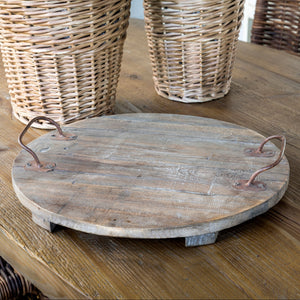 Wooden Footed Cellar Tray