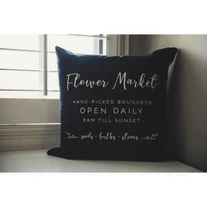 Flower Market Linen Pillow Cover