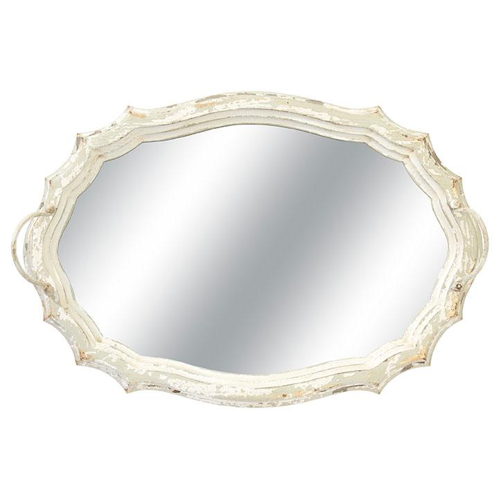 Distressed Mirrored Tray