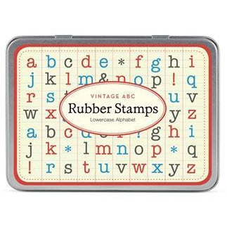 """Vintage ABC "" Lowercase Rubber Stamp Set"