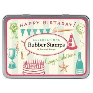 """Celebrations"" Rubber Stamps"