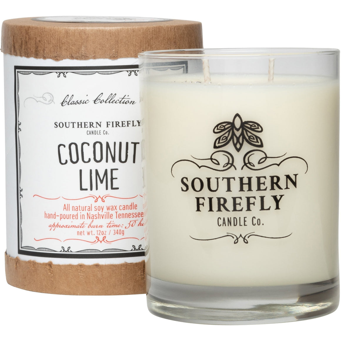 Southern Firefly Candle Co. COCONUT LIME - 14 oz GLASS CONTAINER