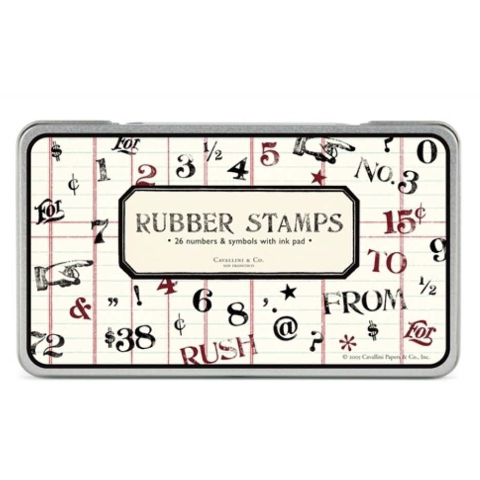 """Numbers & Symbols"" Rubber Stamp Set"