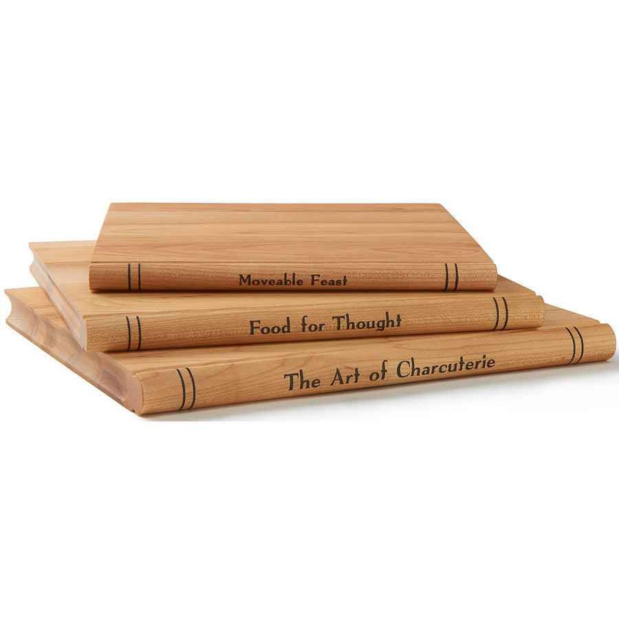 "The Trilogy - S/3 Maple ""Book"" Cheese Servers"