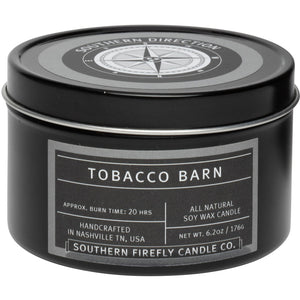 Southern Firefly Candle Co. TOBACCO BARN - 8 oz TRAVEL TIN