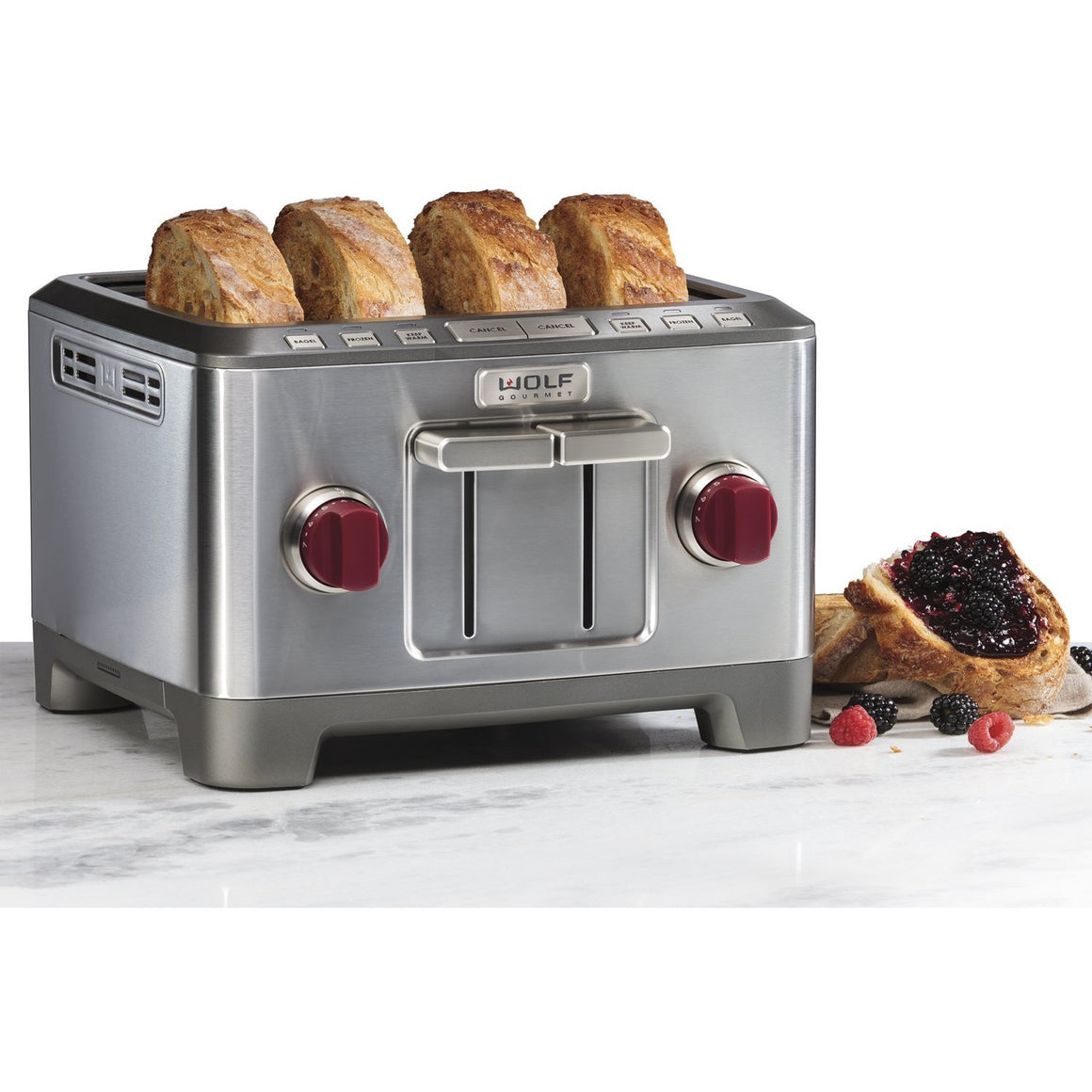 4 Slice Toaster (Red Knobs)