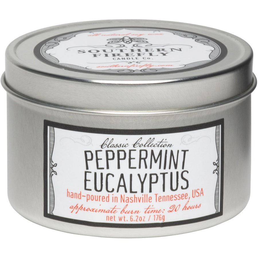 Firefly Candle Co. PEPPERMINT EUCALYPTUS - 8 oz TRAVEL TIN