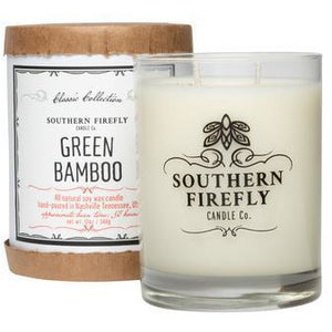 Southern Firefly Candle Co. GREEN BAMBOO - 14 oz GLASS CONTAINER