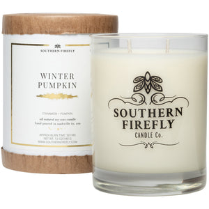 Firefly Candle Co. WINTER PUMPKIN - 10 oz GLASS CONTAINER