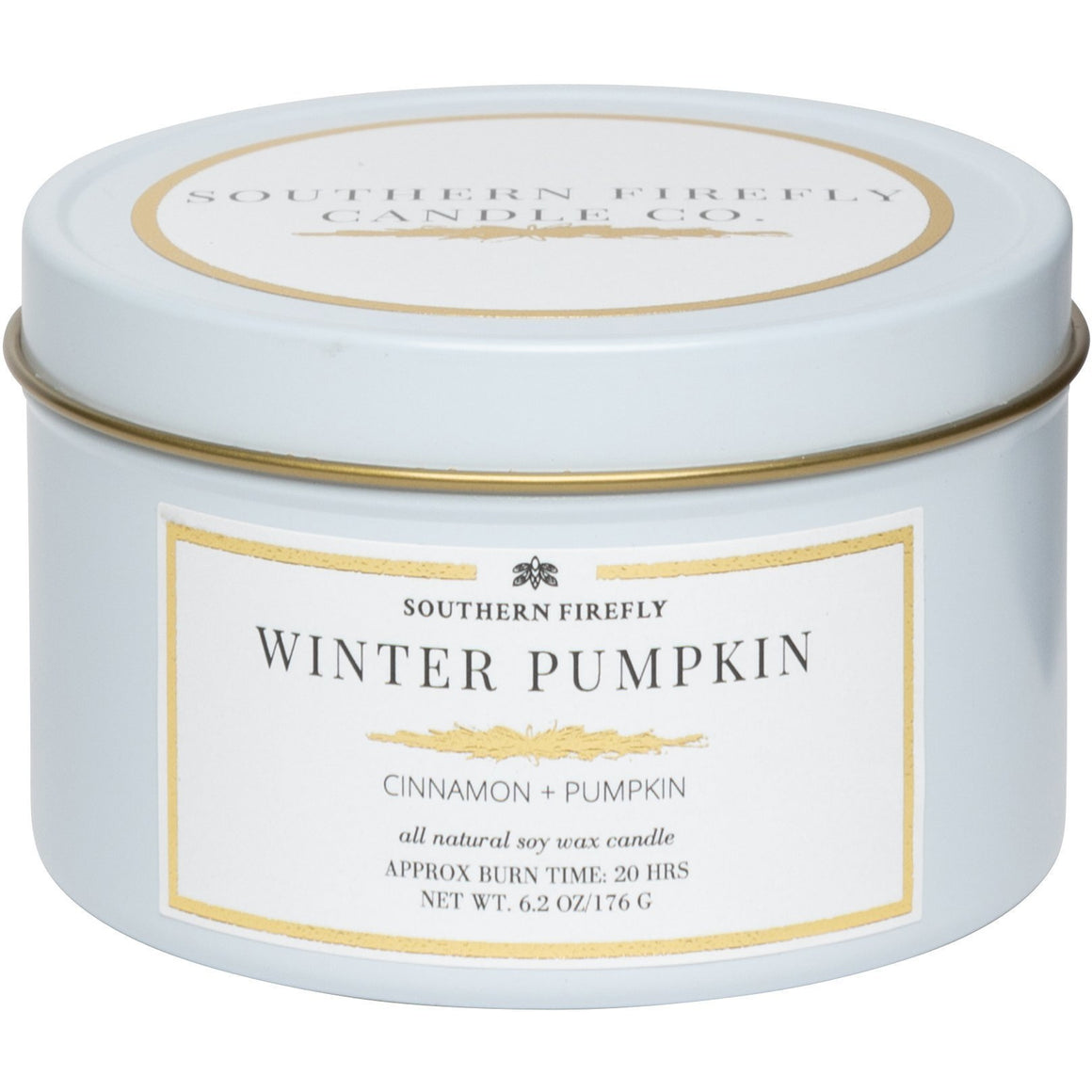 Firefly Candle Co. WINTER PUMPKIN - 6 oz TRAVEL TIN