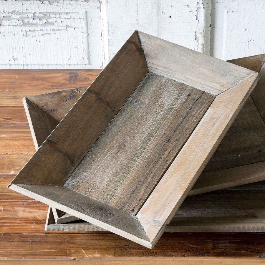 Small Rectangular Reclaimed Wood Tray