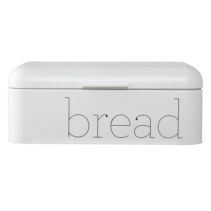 White Metal Bread Bin
