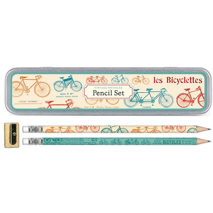 Bicycles Pencil Set